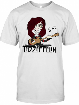 Led Zeppelin Band Playing Guitar T-Shirt