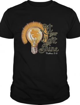 Let your light shine matthew autism awareness shirt