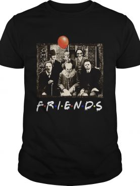 1597722055Horror Movie Characters Friends TV Show shirt