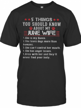 5 Things You Should Know About My June Wife T-Shirt