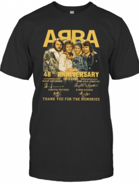 ABBA 48Th Anniversary 1972 2020 Thank You For The Memories T-Shirt