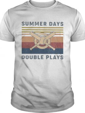 Baseball Summer Days Double Plays Vintage shirt