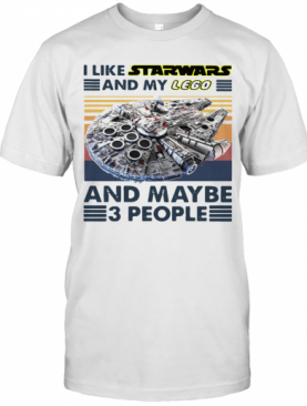 I Like Star Wars And My Lego And Maybe 3 People Vintage T-Shirt