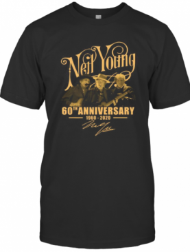 Neil Young 60Th Anniversary 1960 2020 Signatures T-Shirt