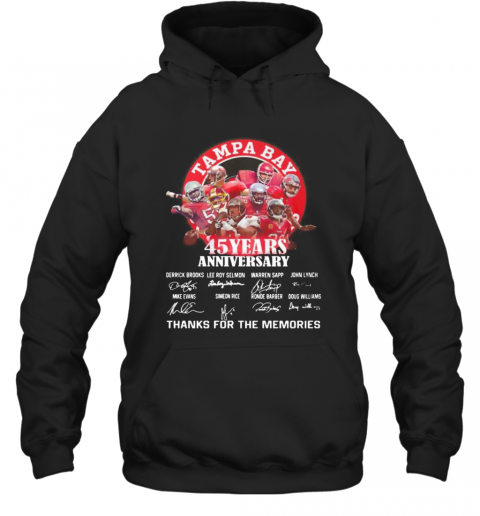 Tampa Bay Buccaneers 45 Years Anniversary Thank You For The Memories Signatures T-Shirt Unisex Hoodie