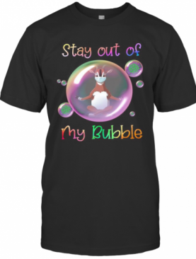 Yoga Goat Mask Stay Out Of My Bubble Covid 19 T-Shirt