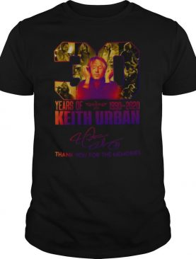 30 Years Of 1990 2020 Keith Urban Thank You For The Memories Signature shirt