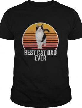 Best cat dad ever line vintage retro shirt