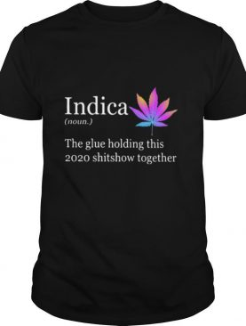 Indica The Glue Holding This 2020 Shitshow Together shirt