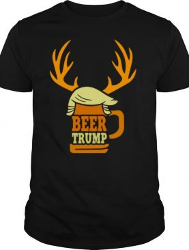 Beer Trump Reindeer Christmas shirt