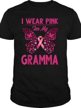 Breast Cancer Awareness I Wear Pink For My Gramma shirt