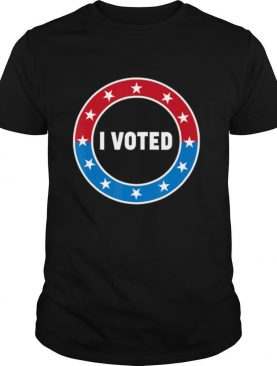 I Voted USA Election 2020 Red White & Blue Voting Sticker shirt