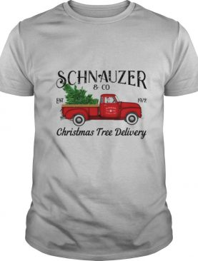 Schnauzer Christmas Tree Delivery shirt