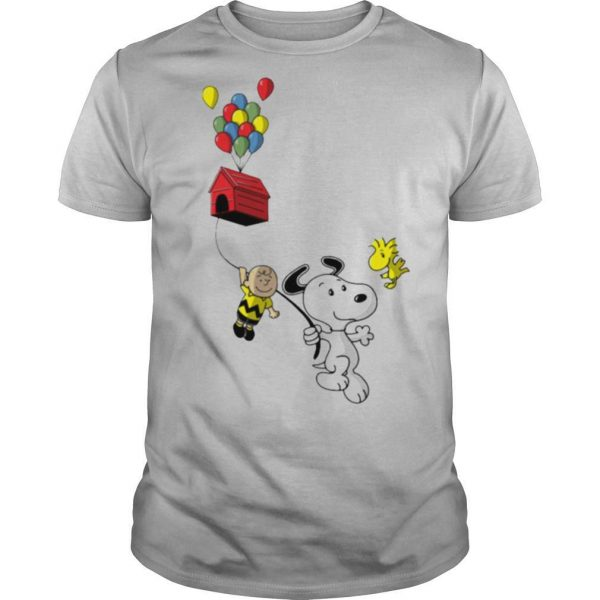 Snoopy And Charlie Brown Woodstock Balloon shirt