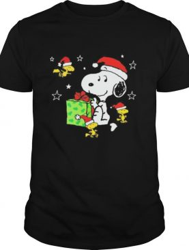 Snoopy and woodstock merry christmas stars shirt