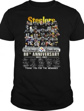 Pittsburgh Steelers 88th Anniversary Signatures Thank You For The Memories shirt