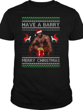 Barry Wood have a barry Ugly Merry Christmas shirt
