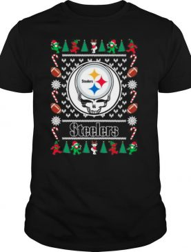 Pittsburgh Steelers Grateful Dead Ugly Christmas shirt
