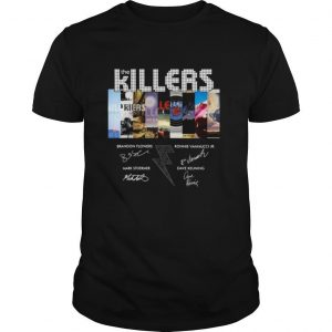 The Killers Band Members Signatures shirt