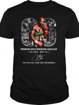 66 years of Marvelous Marvin Hagler 1954 2021 signature thank you for the memories shirt