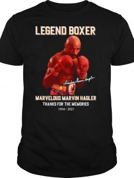 The Legend Boxer Marvelous Marvin Hagler 1954 2021 Signature Thank You For The Memories shirt